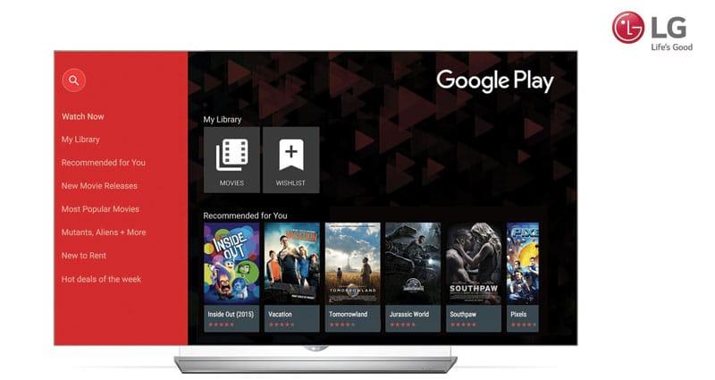 LG lanza Google Play Movies & TV