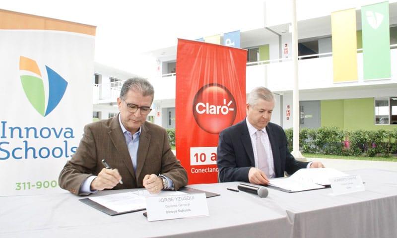 INNOVA SCHOOLS y CLARO firman Convenio