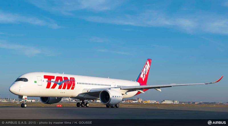 TAM Airlines opera el A350 XWB