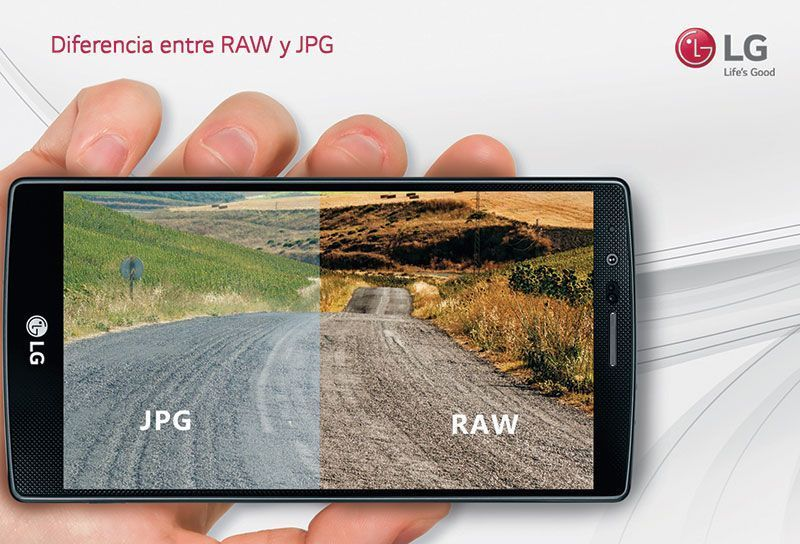 Smartphones Premium de LG permiten formato RAW