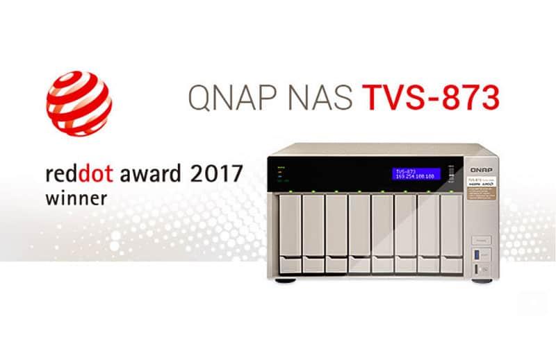 El NAS TVS-873 de QNAP distinguido con premio Red Dot