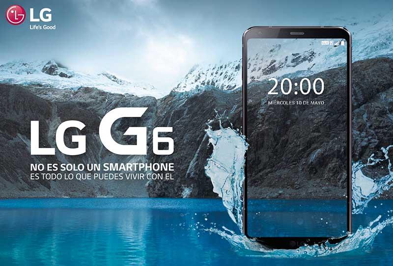 El Smartphone LG G6 llegó al Perú