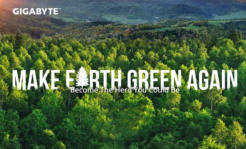 GIGABYTE vuelve a hacer la Tierra Verde