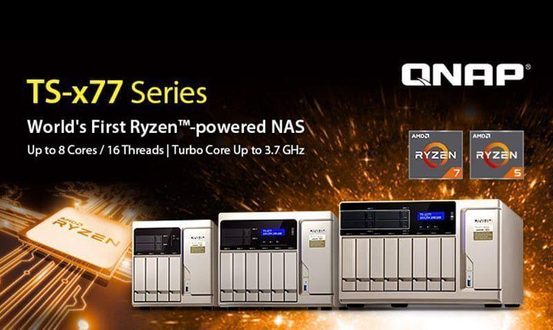 QNAP presenta primer NAS TS-x77 basado en Ryzen