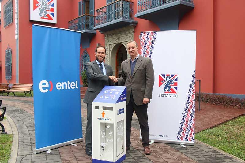 BRITÁNICO y Entel se unen en favor del reciclaje electrónico