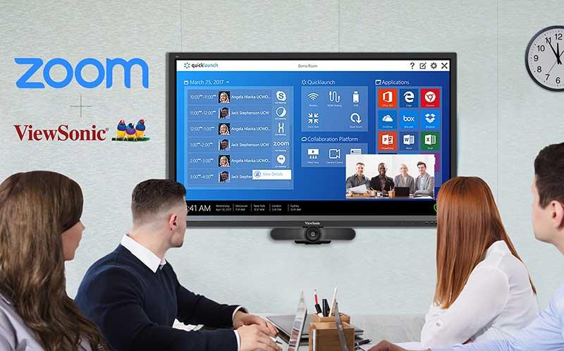 ViewSonic anuncia integración con el software Zoom
