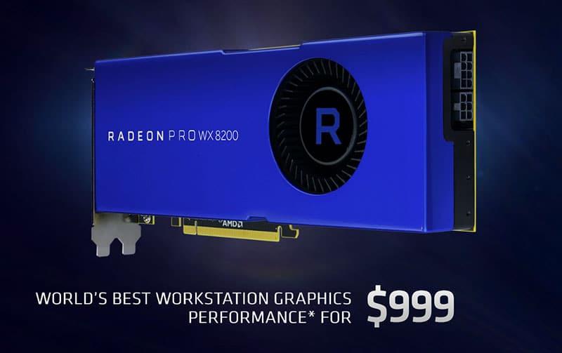 AMD impulsa la creatividad con la tarjeta gráfica Radeon Pro WX 8200