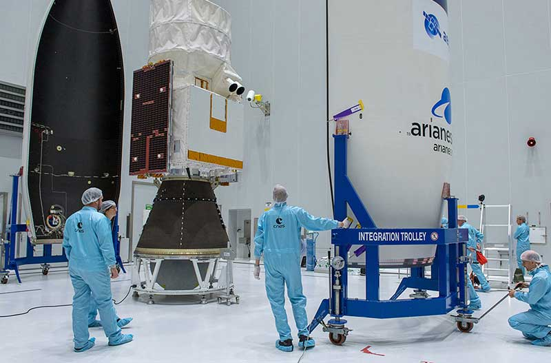 Nuevo satélite Aeolus construido por Airbus