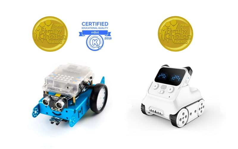 Robots educativos Makeblock ganan premios Family Choice 2018