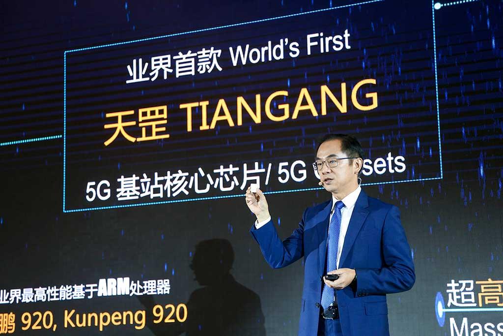 Huawei lanza el primer core chip para estaciones 5G