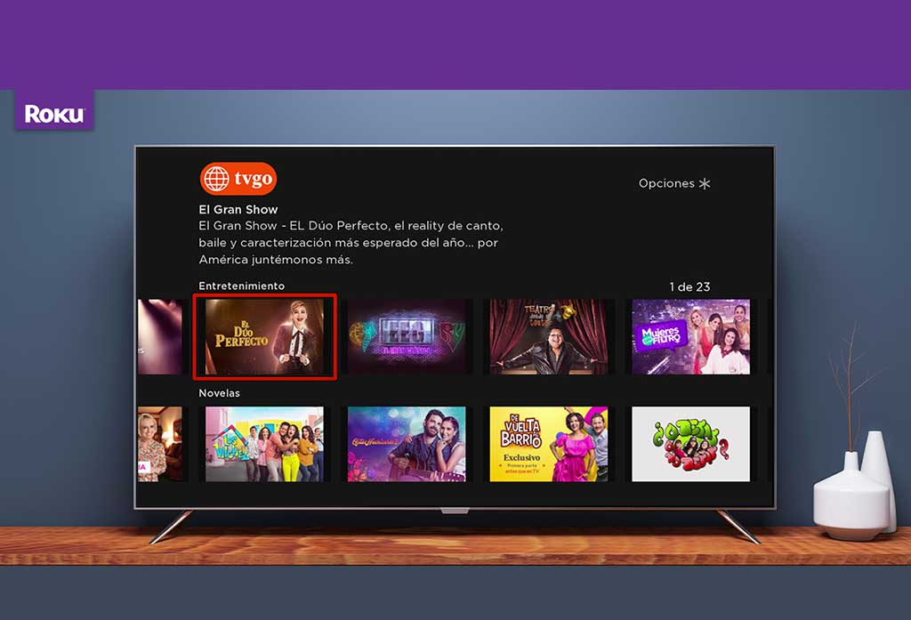 América tvGO disponible en la plataforma Roku en Perú