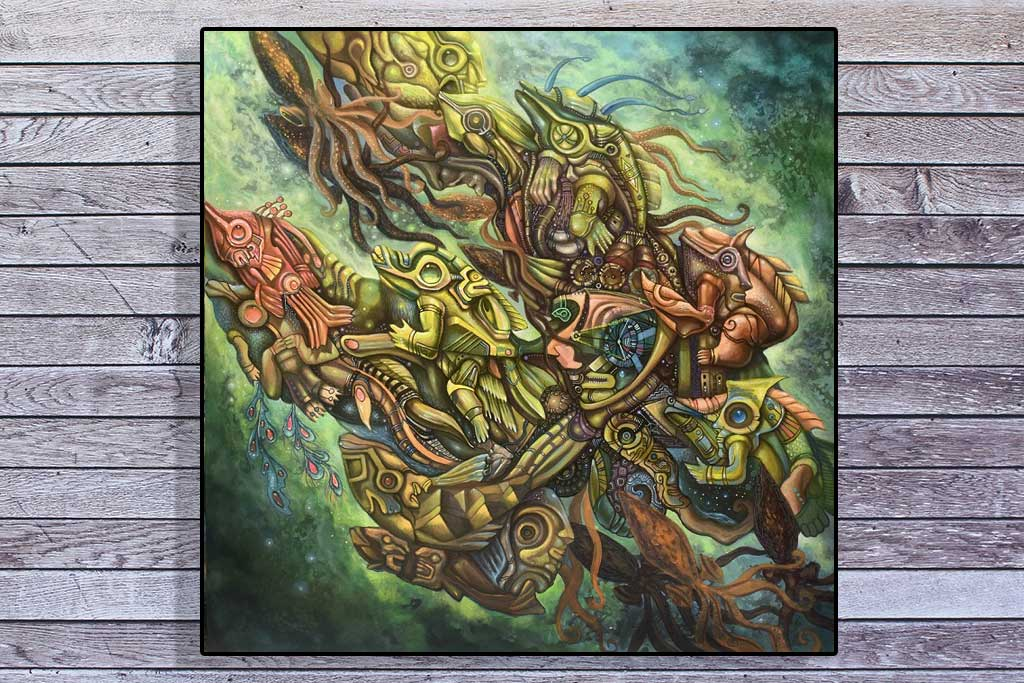 Artista peruano Donatello Getsemaní en Bienal europea