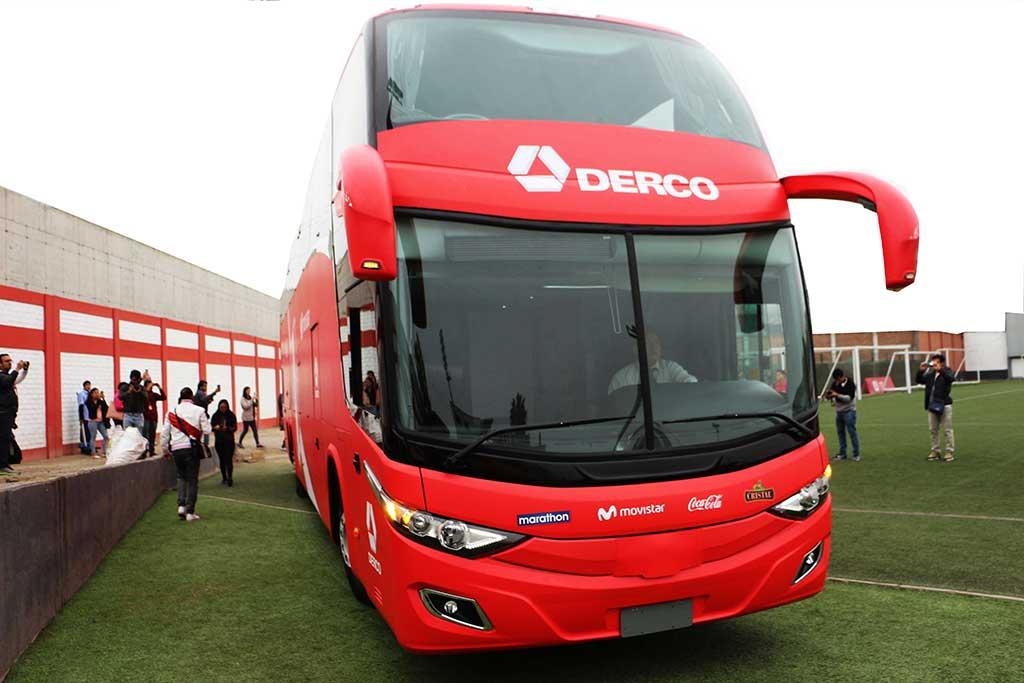 DERCO presenta nuevo bus oficial de la Selección Peruana de Fútbol