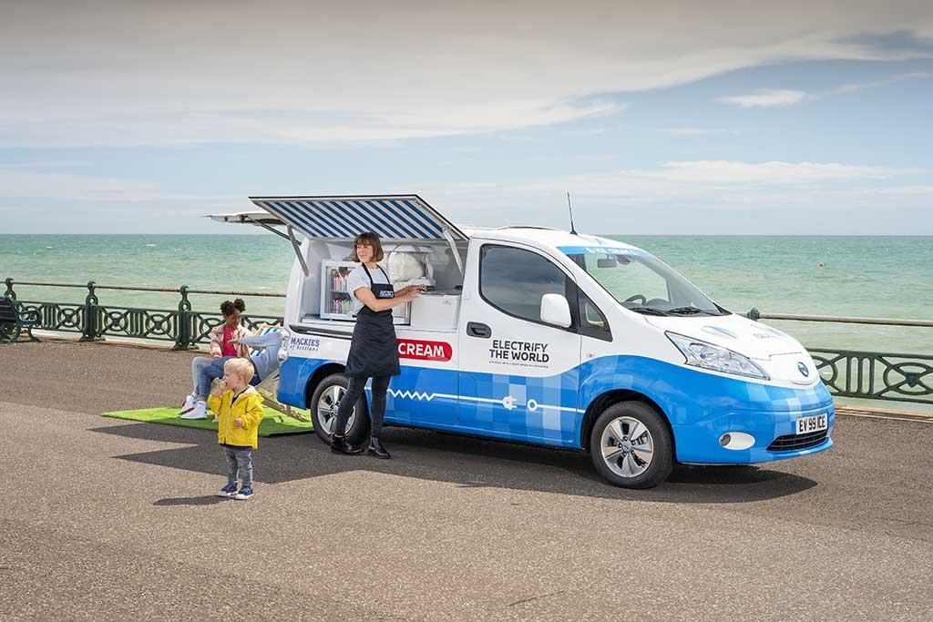 Nissan presenta prototipo de furgoneta de helados de cero emisiones
