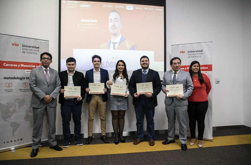 8 peruanos ganan las «Becas Lógralo» de la Universidad Internacional de Valencia