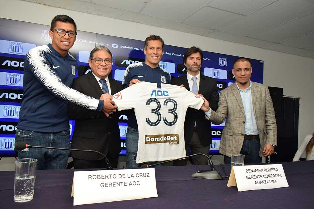 AOC renueva convenio publicitario con Alianza Lima