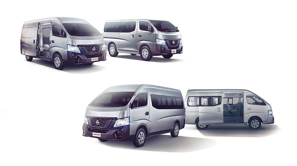 Completo lineup de la Nissan Urvan llegó al mercado peruano
