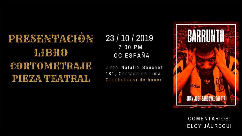 Juan José Sandoval presenta libro Barrunto en el CC España