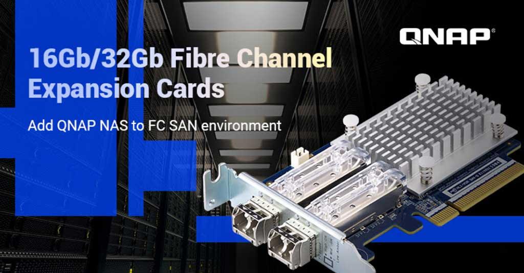 QNAP lanza tarjetas de expansión de Fibra Canal