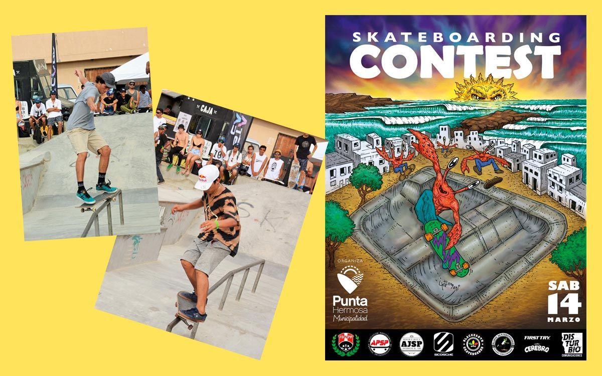 Este 14 de marzo lo mejor del Skateboarding en Punta Hermosa