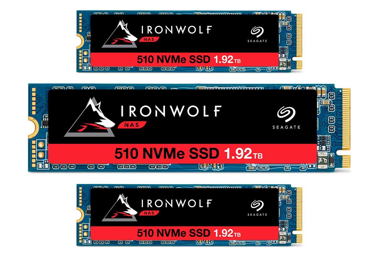 Seagate presenta unidad SSD PCIe IronWolf 510 para sistemas NAS empresariales