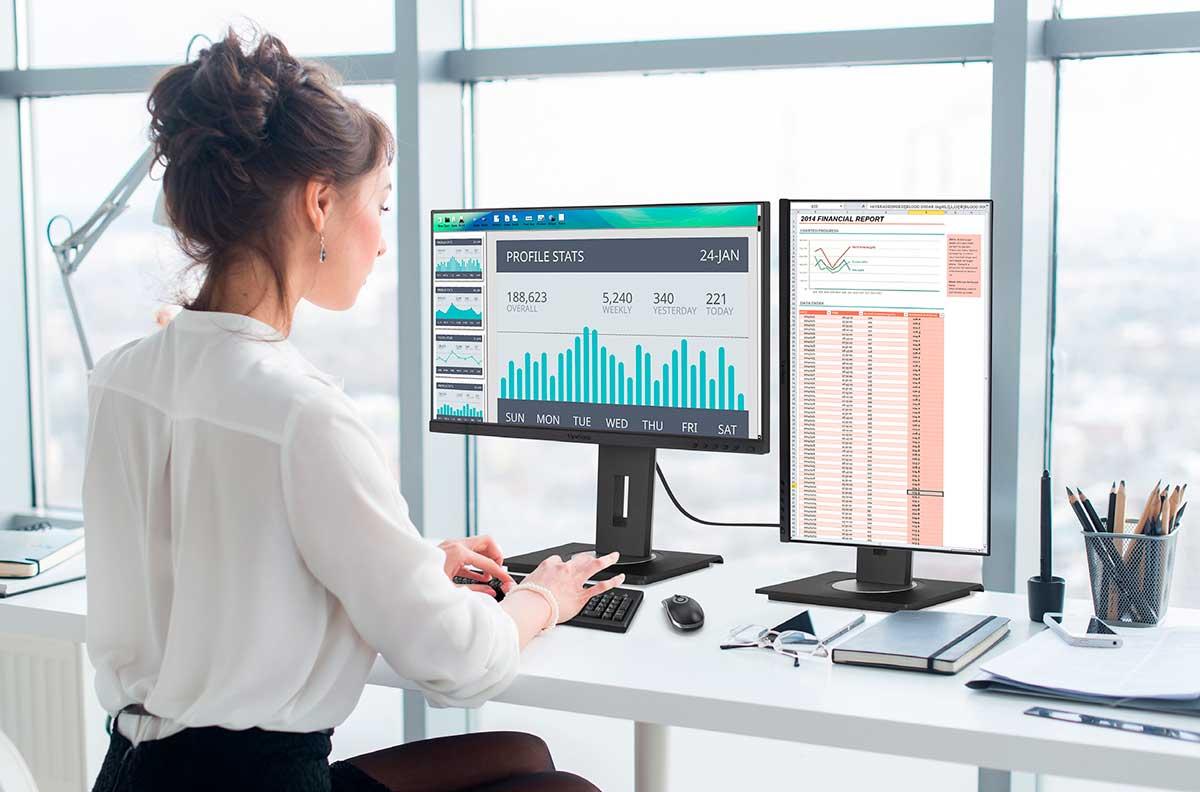 Monitores para teletrabajo y lograr confortabilidad