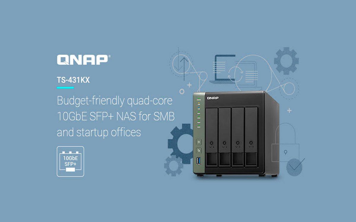 QNAP presenta el NAS económico de núcleo cuádruple TS-431KX