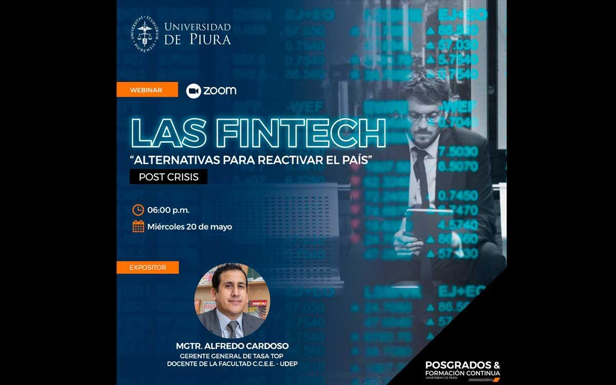 """UDEP realiza webinar gratuito sobre """"Las Fintech, alternativas para reactivar el país"""""""