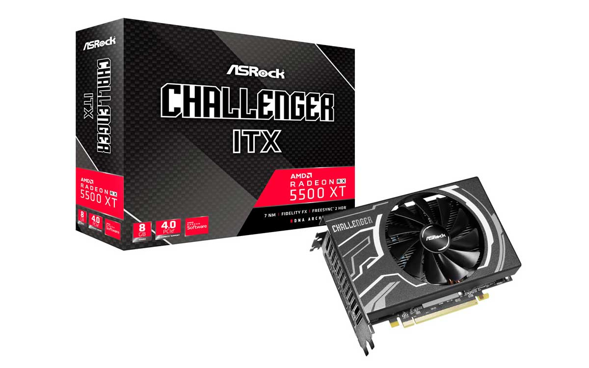 ASRock presenta la placa de video Radeon RX 5500 XT Challenger ITX 8G