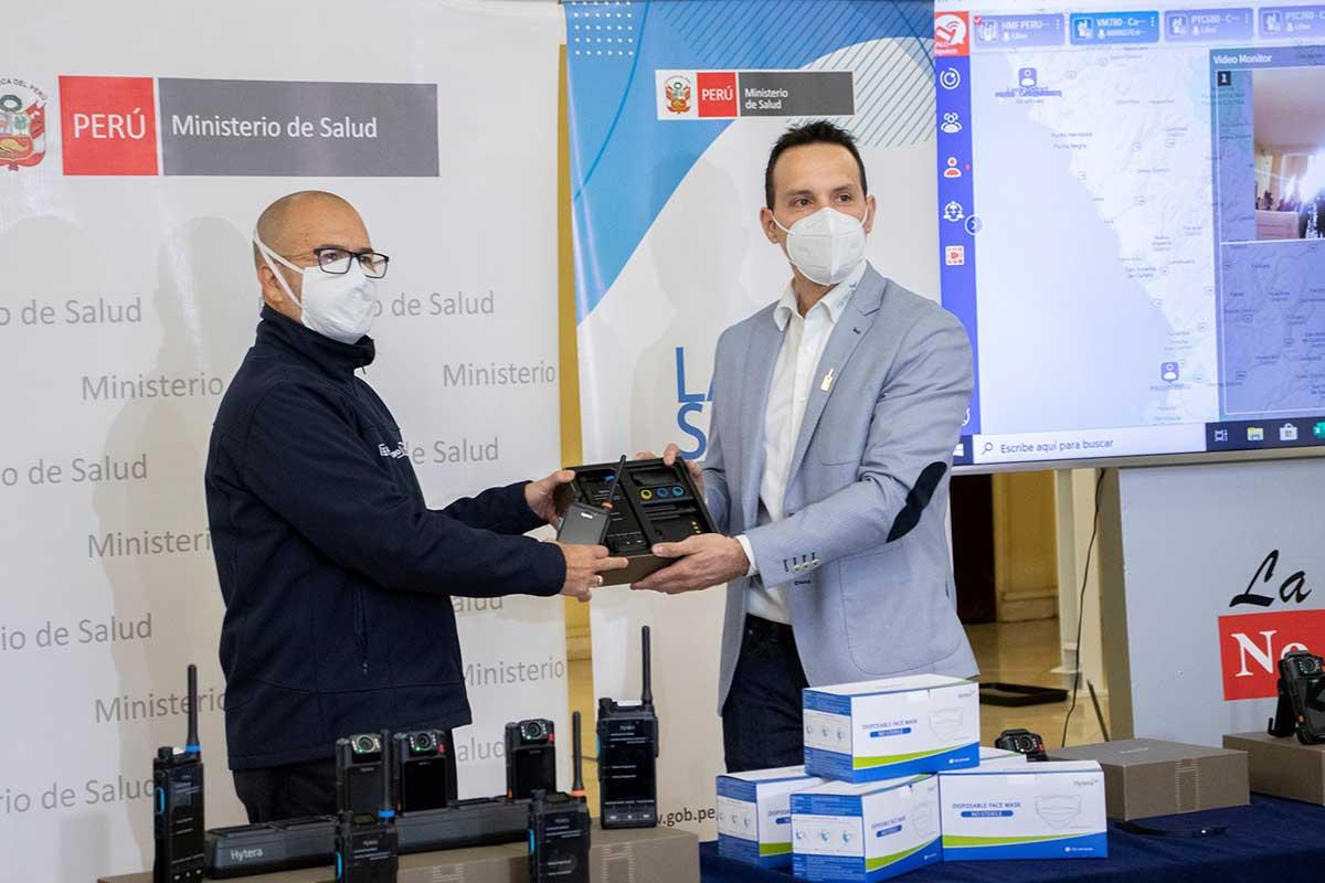 Hytera dona mascarillas y solución de telecomunicaciones al Ministerio de Salud