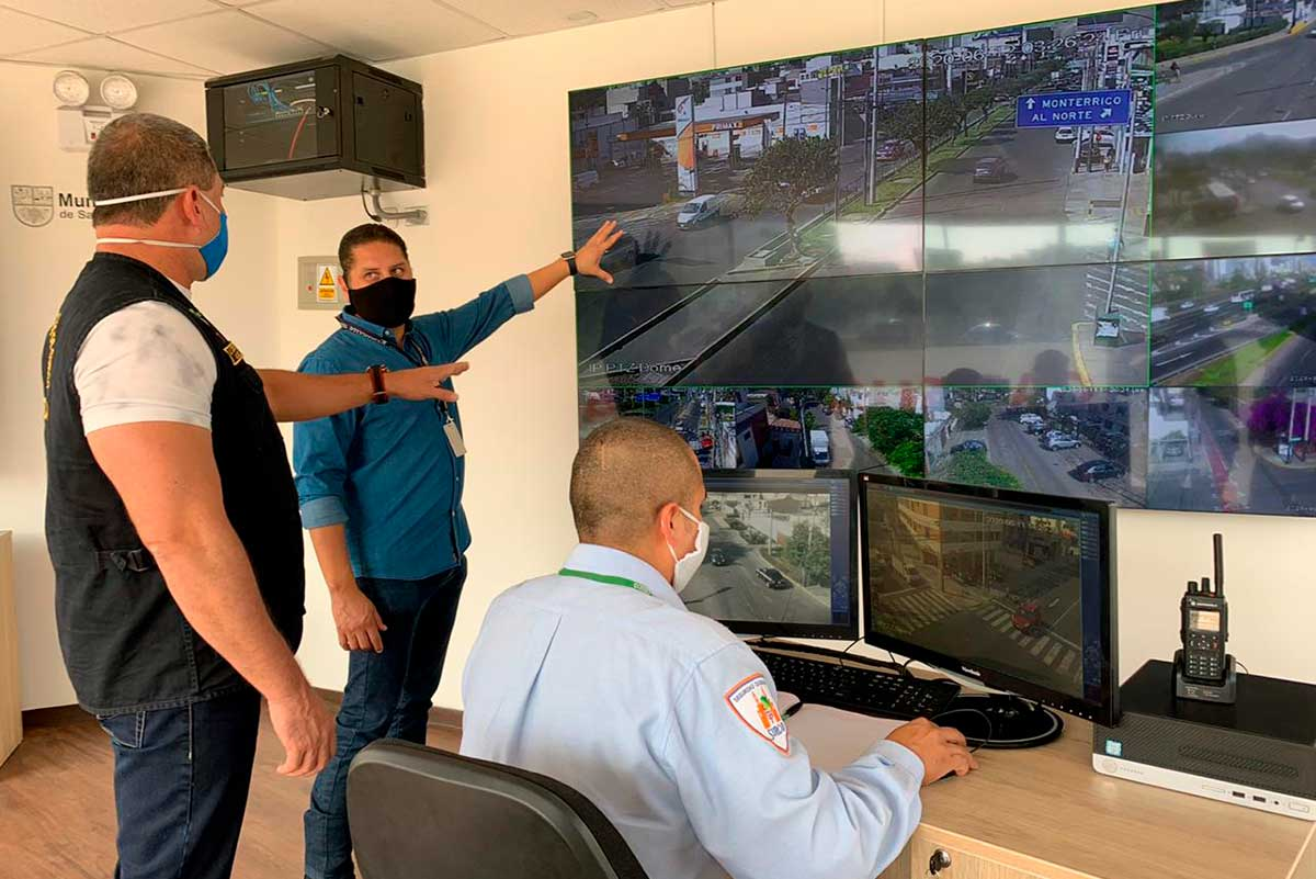Santiago de Surco inaugura módulos de videovigilancia para mejorar la seguridad ciudadana y evitar la proliferación del Covid-19