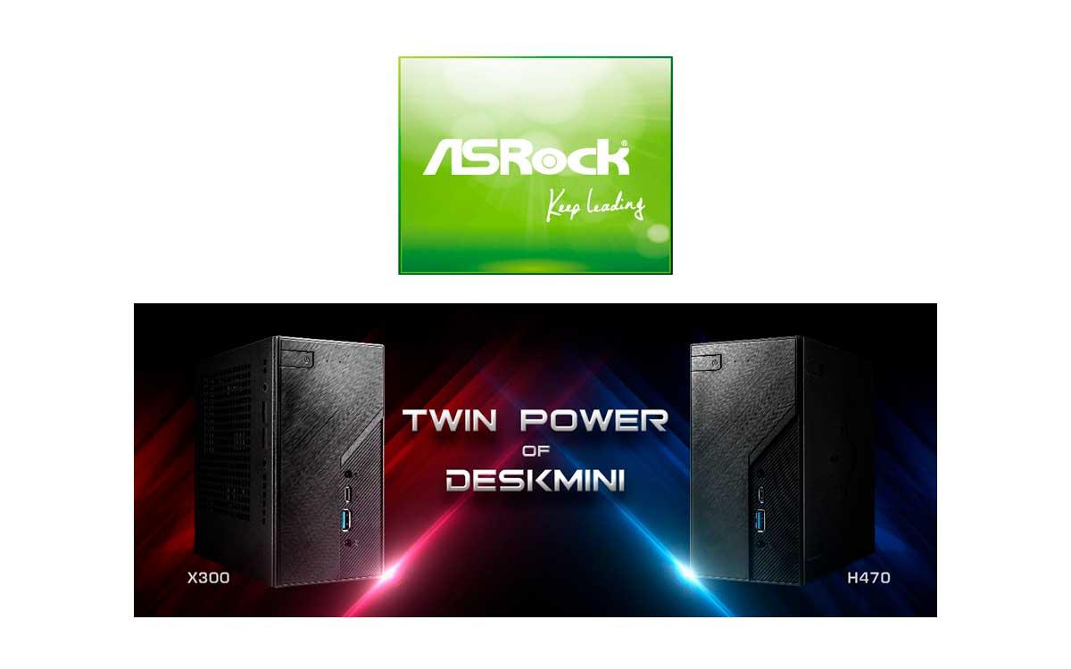 ASRock presenta los nuevos DeskMini H470 y DeskMini X300