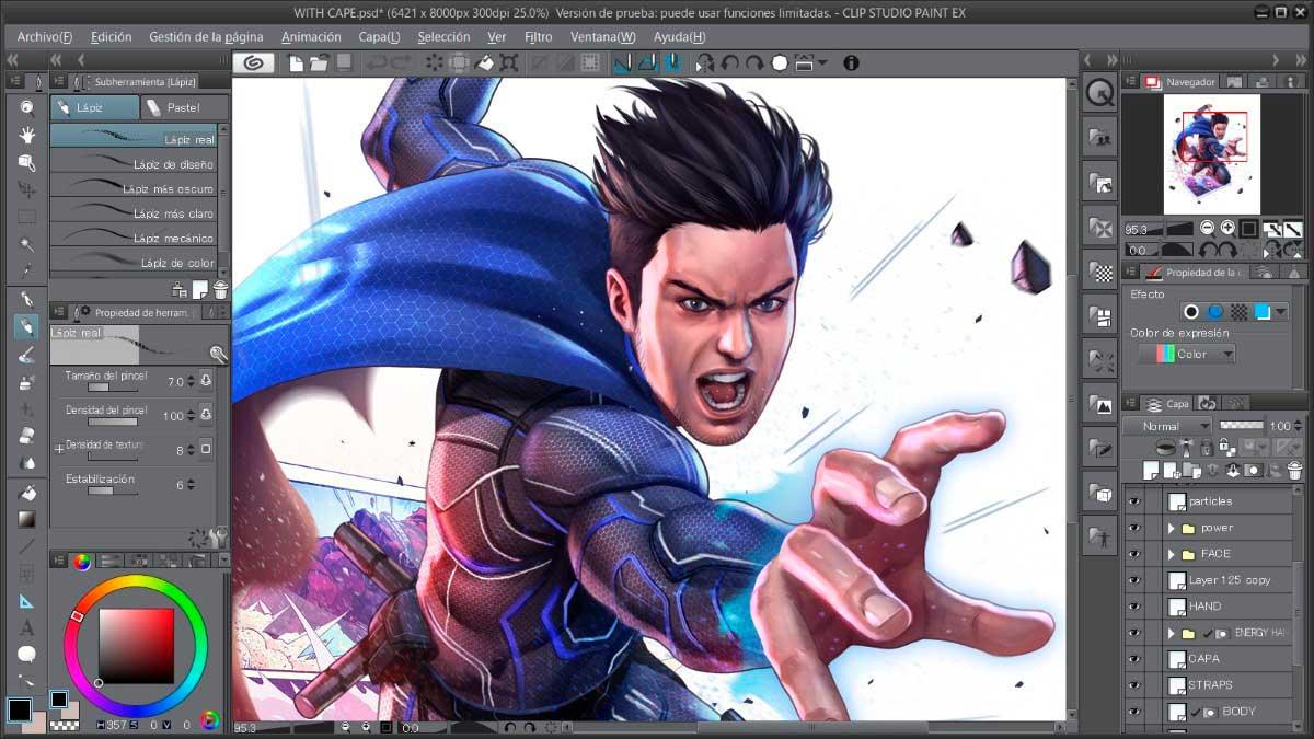 Clip Studio Paint disponible para Galaxy