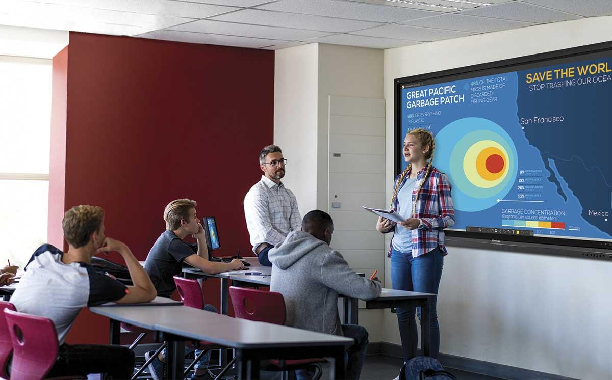 Tutor privado mejora la interacción, atención y comprensión de sus estudiantes en clases virtuales con las pantallas interactivas ViewSonic