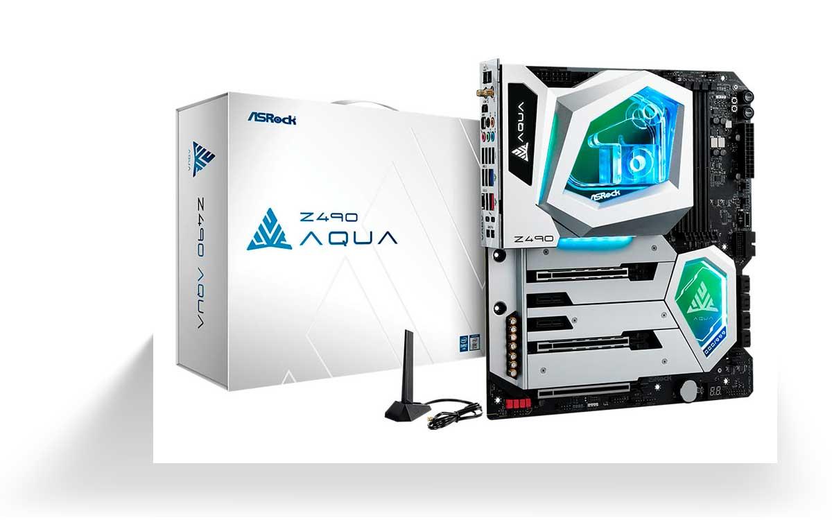 ASRock presentó Z490 AQUA para Gamers