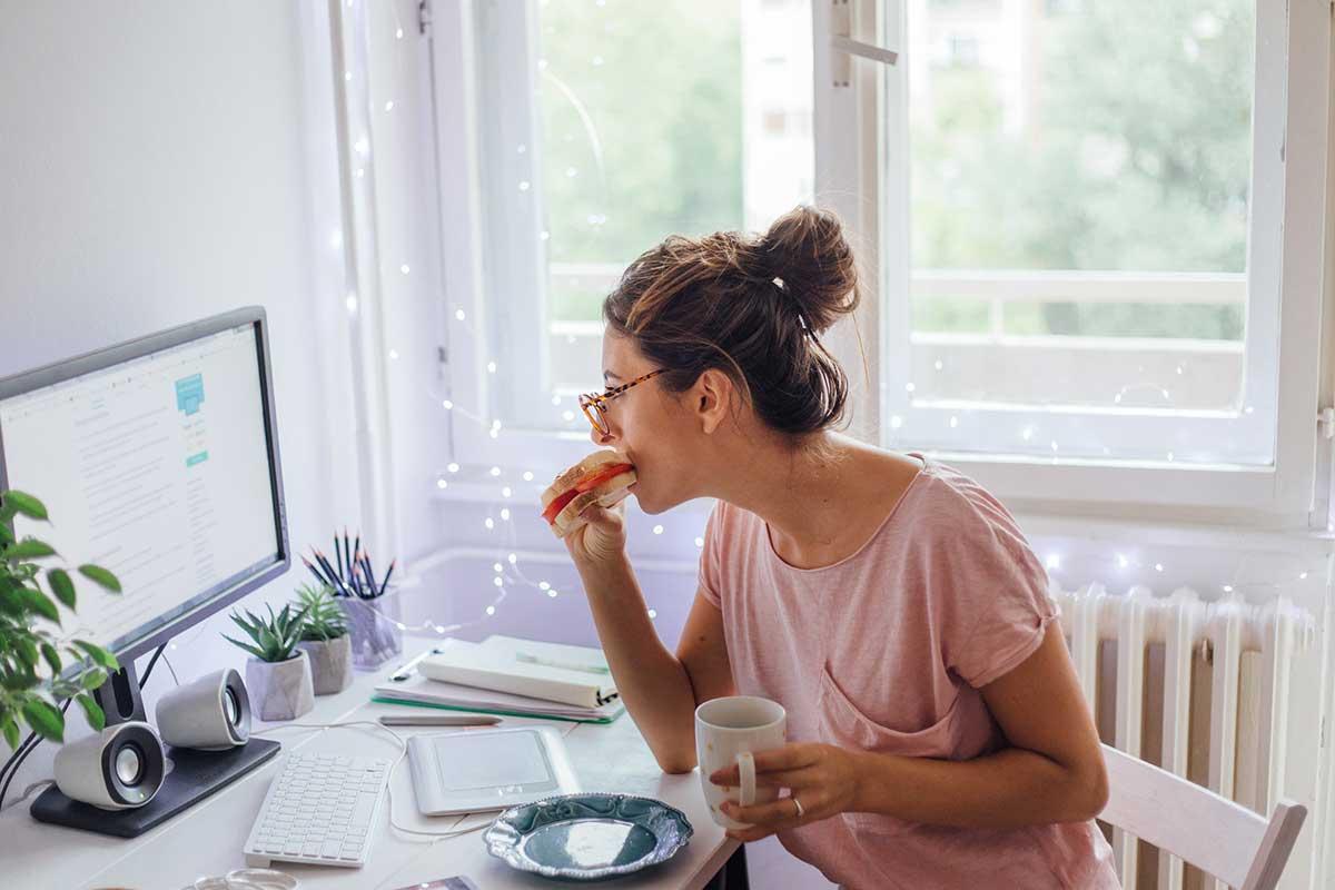 Estar en casa ya no significa necesariamente alimentarse bien