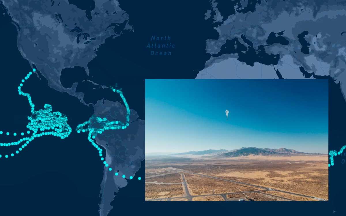 Globos Loon de Google rompen récord de vuelo de 312 días
