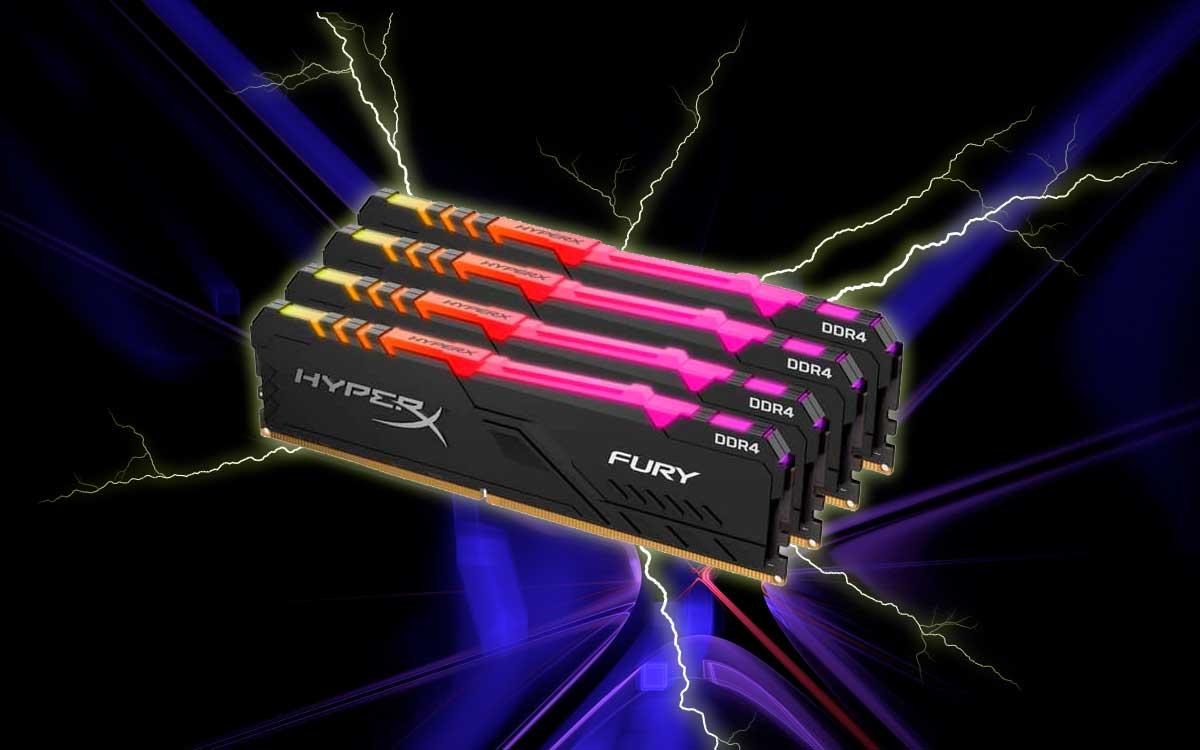 HyperX Fury RGB brinda toda la potencia RAM para un rendimiento sobresaliente