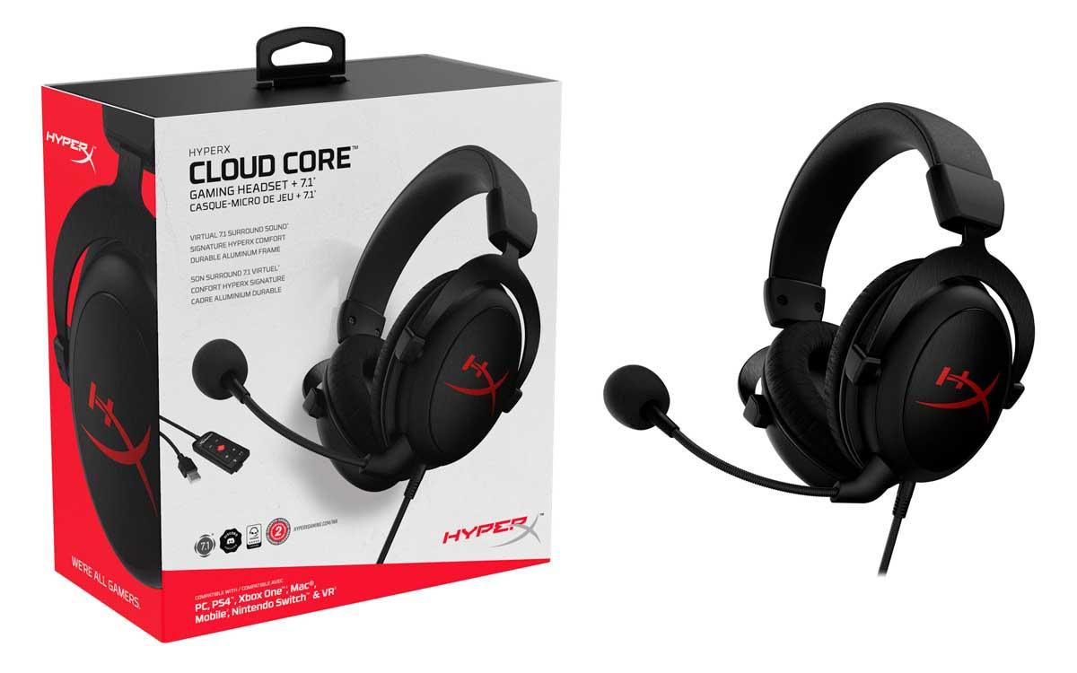HyperX presenta los gaming headsets Cloud Core con sonido 7.1
