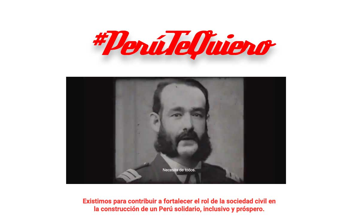 Miguel Grau vuelve a la vida e invita a más ciudadanos a sumarse a Perú Te Quiero