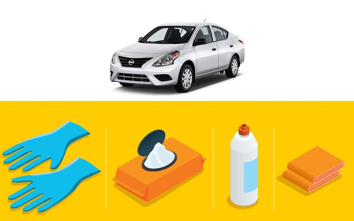 Nissan recomienda cómo desinfectar un vehículo y proteger a tu familia