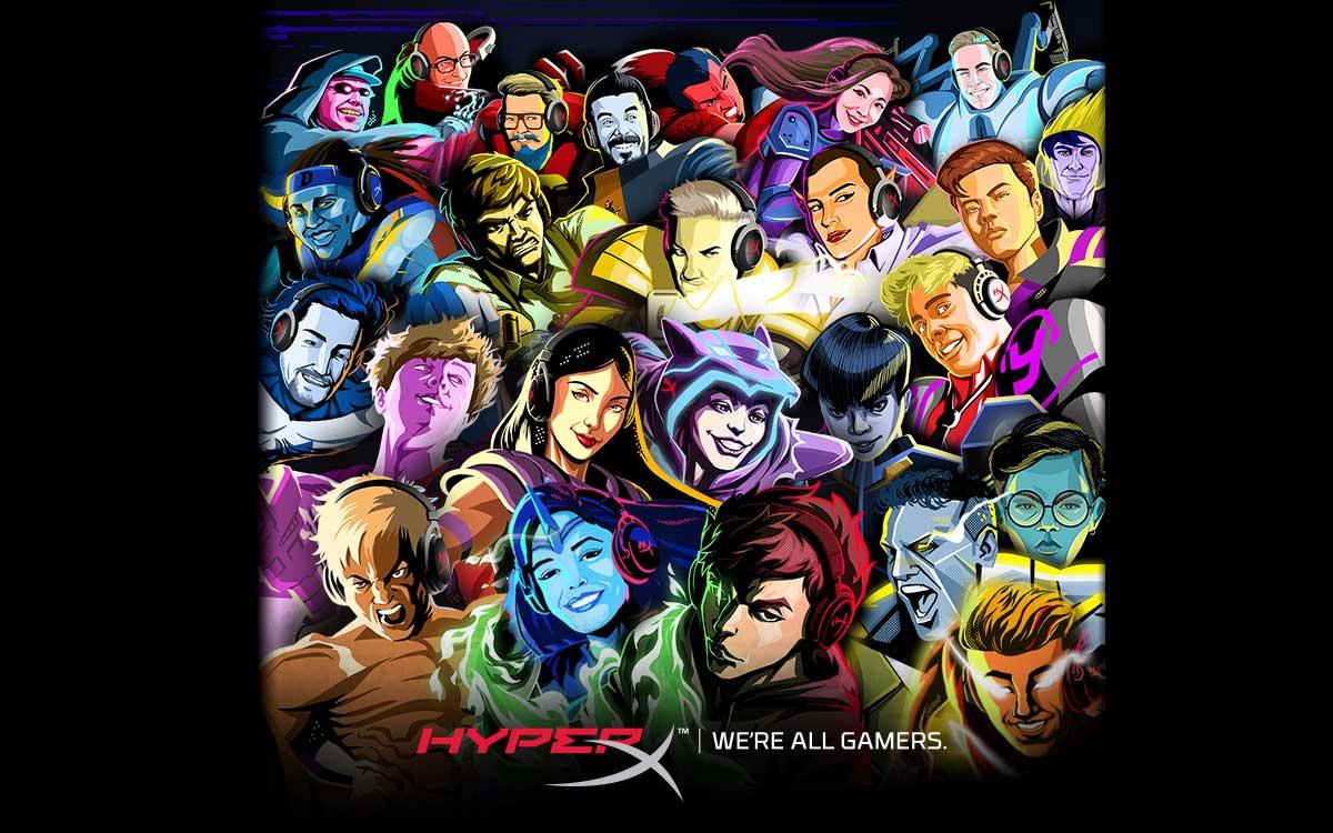 HyperX agrega 24 influencers mundiales a su programa de embajadores de marca