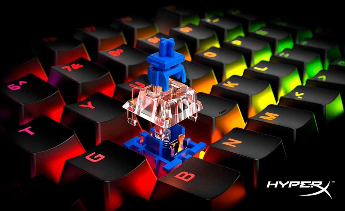 HyperX incluye interruptores mecánicos Blue a los teclados para videojuegos Alloy Origins