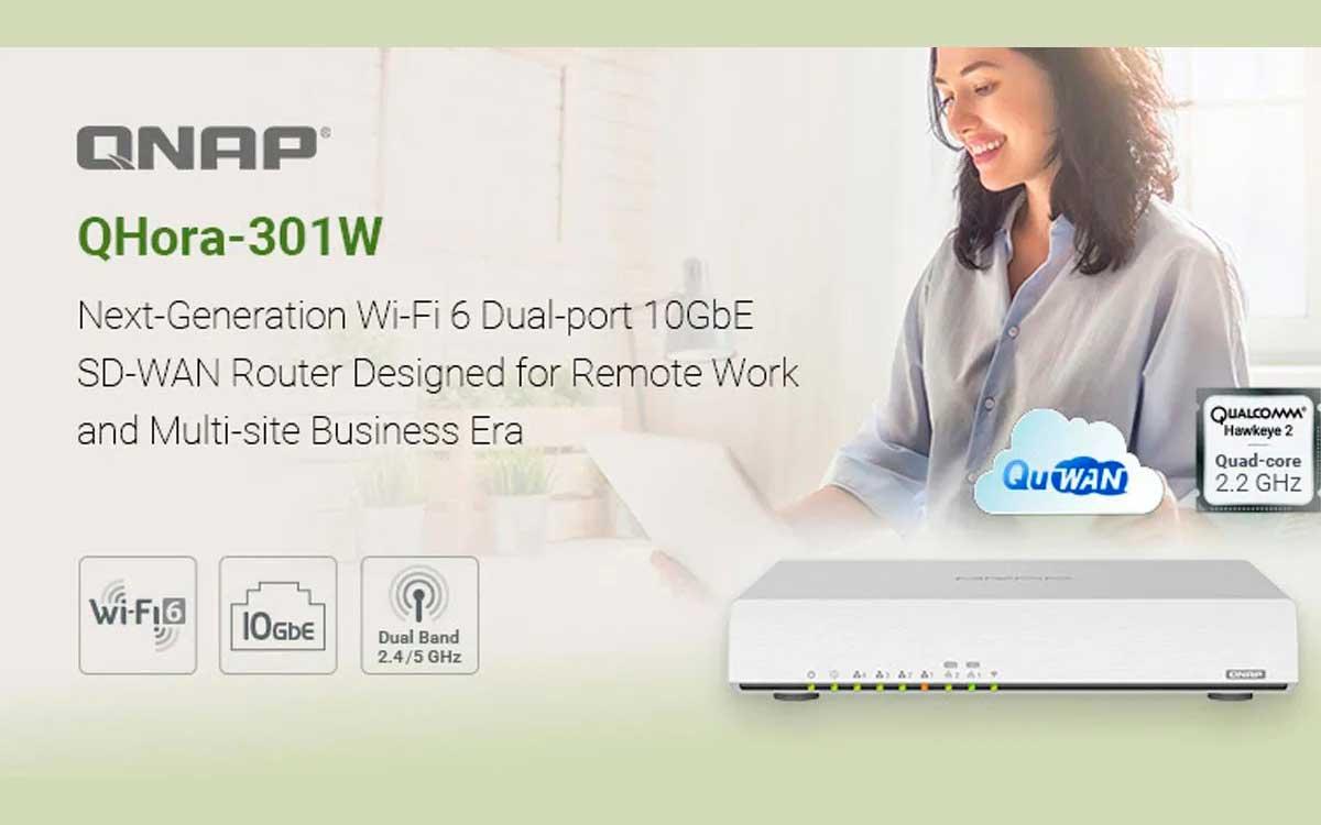 QNAP presenta nuevo router QHora-301W