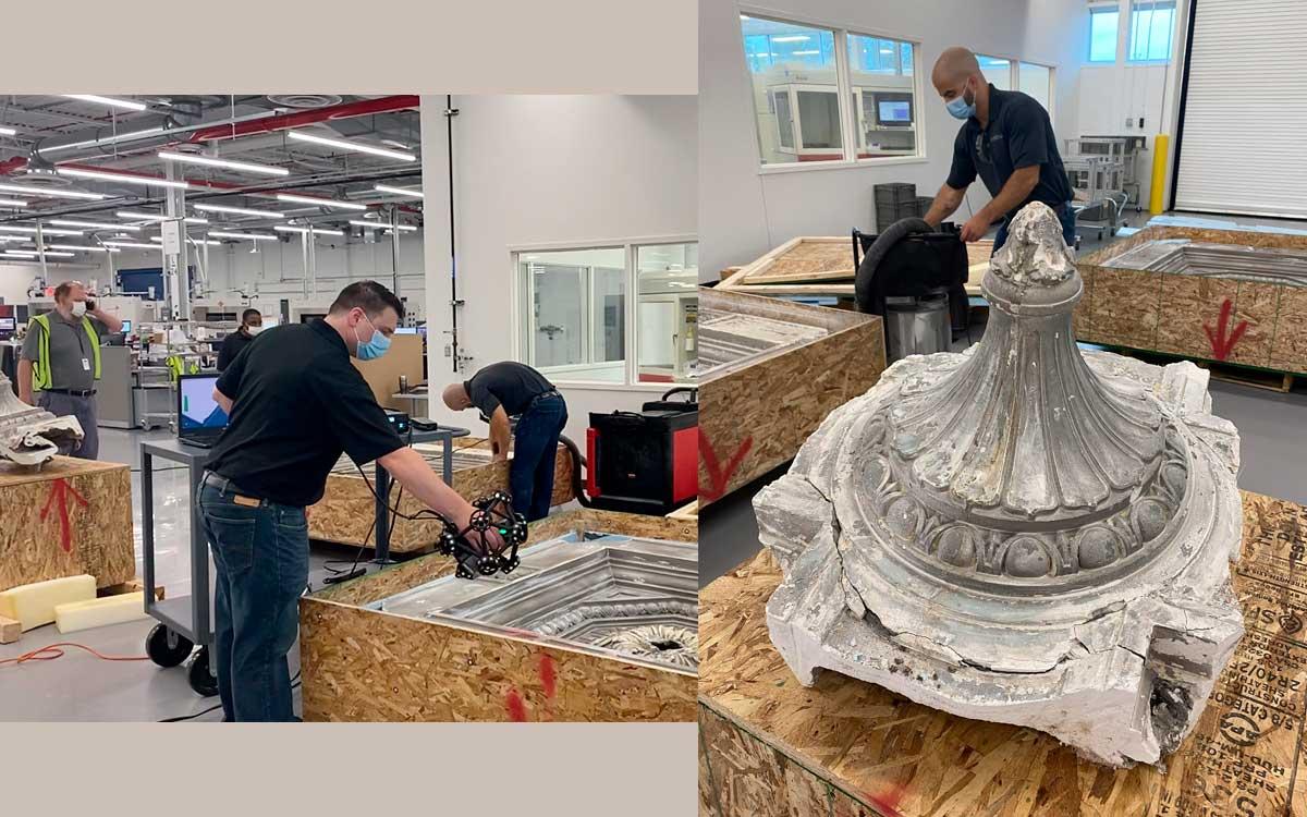 Tecnología 3D de Ford ayuda a restaurar icónica Estación Central de Michigan