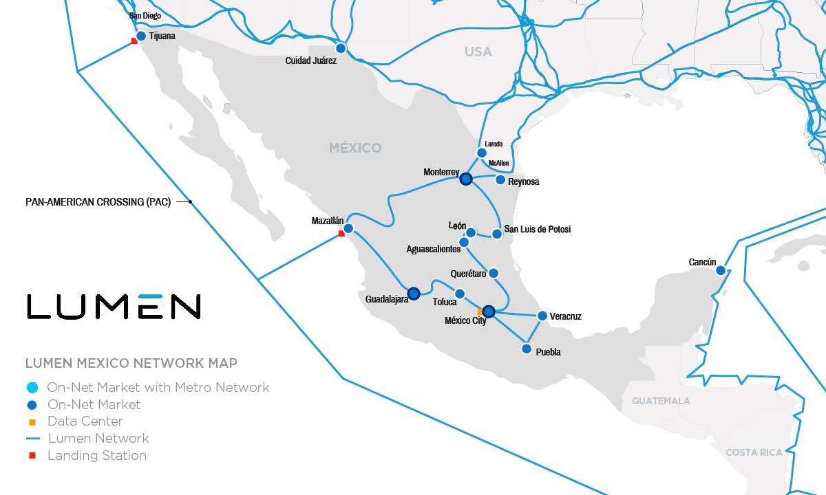 Lumen Technologies amplía su red de fibra óptica en México