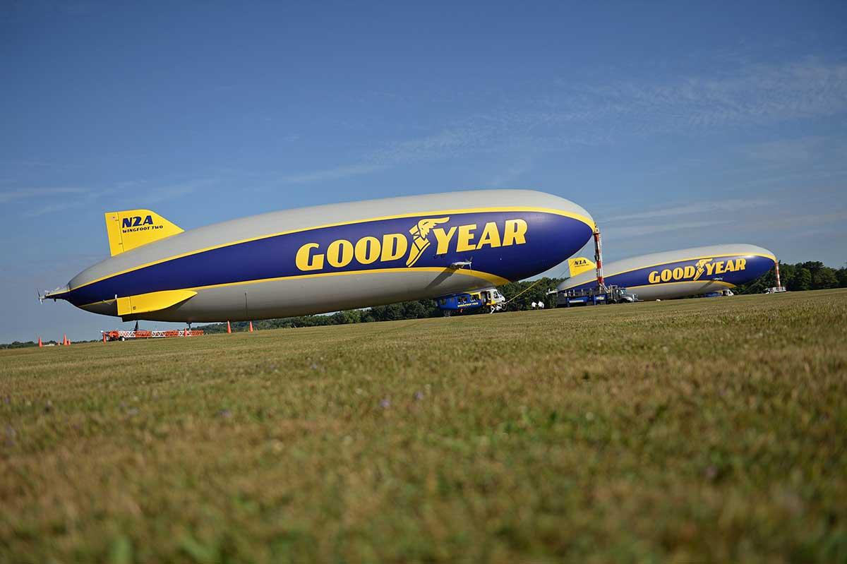 El dirigible de Goodyear cuenta una historia de innovación desde los cielos