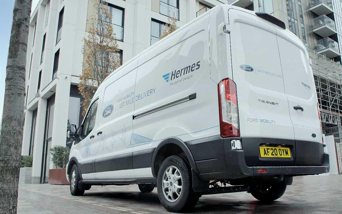 Ford trabaja con la empresa Hermes para desarrollar un servicio de mensajería sostenible