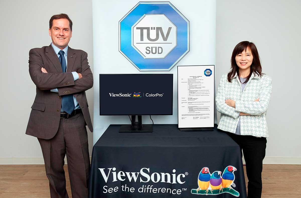 ViewSonic anuncia alianza con TÜV SÜD para desarrollar pruebas de color para daltonismo